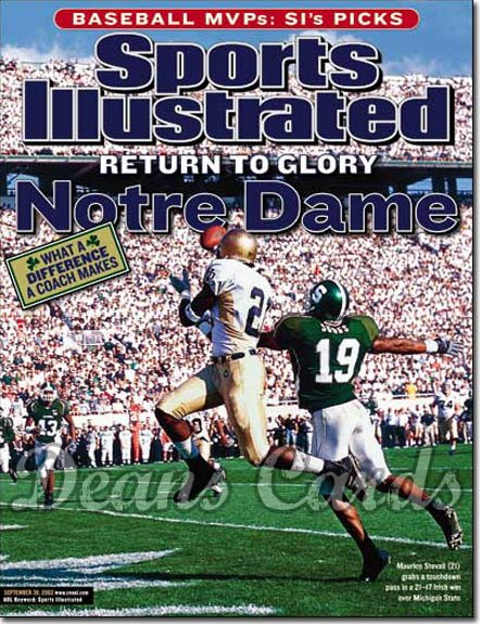 2002 Sports Illustrated   September 30  -  Maurice Stovall (Notre Dame) DeMario Suggs (Michigan State)