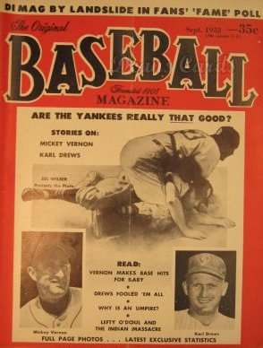 1953 Baseball Magazine    September