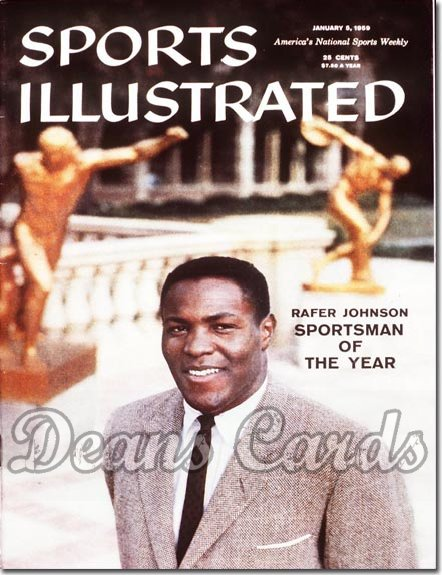1959 Sports Illustrated - With Label   January 5  -  Rafer Johnson (Sportsman of the Year)