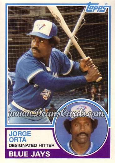 1983 Topps Traded #82 T Jorge Orta