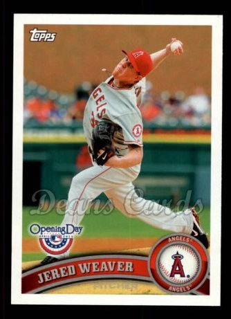 2011 Topps Opening Day #43  Jered Weaver