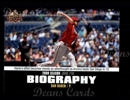 2010 Upper Deck Season Biographies #75 SB Dan Haren