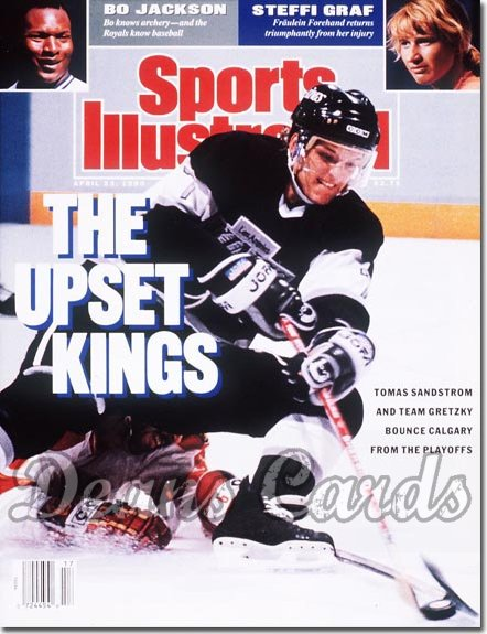 1990 Sports Illustrated - With Label   April 23  -  Thomas Sandstrom (LA Kings)