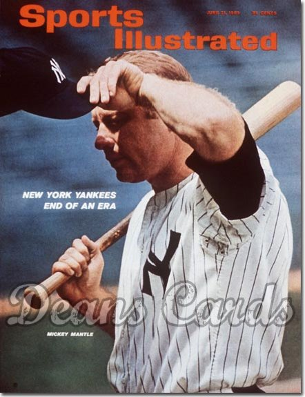 1965 Sports Illustrated - With Label   June 21  -  Mickey Mantle (New York Yankees)