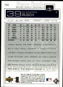 2003 Upper Deck #155  Glendon Rusch