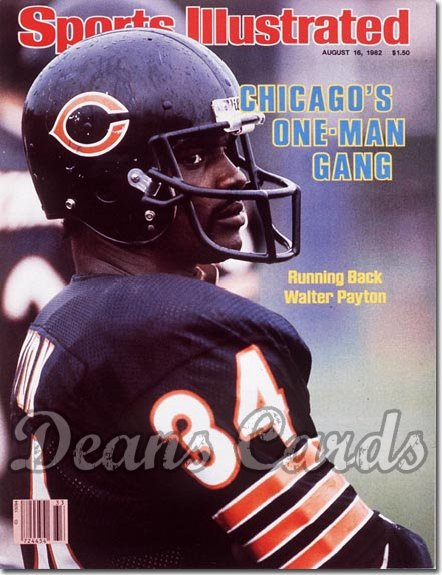 1982 Sports Illustrated - With Label   August 16  -  Walter Payton (Chicago Bears)