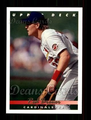 1993 Upper Deck #381  Rod Brewer