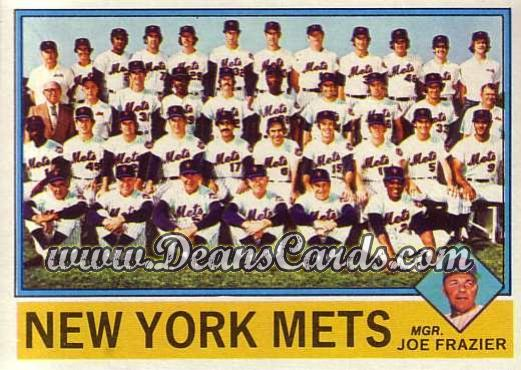 1976 O-Pee-Chee #531   -  Joe Frazier Mets Team Checklist