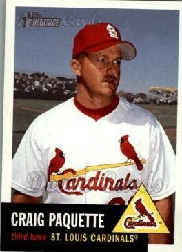 2002 Topps Heritage #286  Craig Paquette