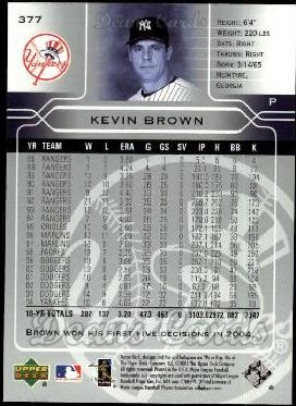 2005 Upper Deck #377  Kevin Brown