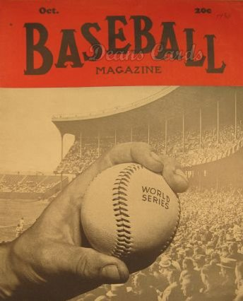 1938 Baseball Magazine    October