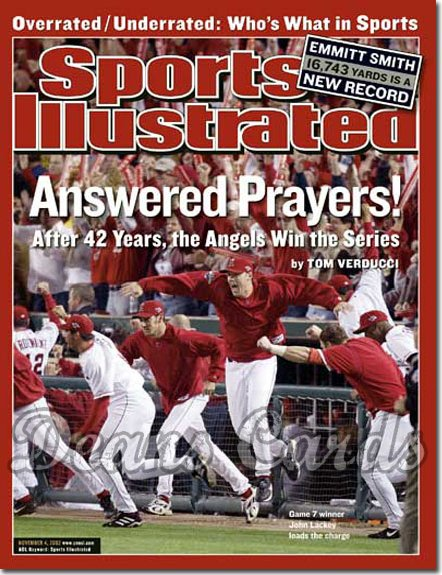 2002 Sports Illustrated   November 4  -  John Lackey & others Anaheim Angels World Series