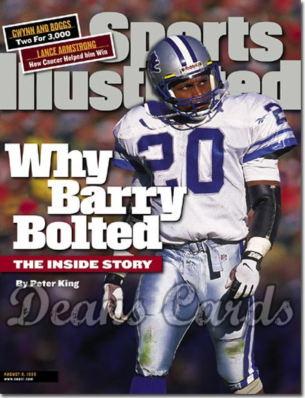 1999 Sports Illustrated - No Label   August 9  -  Barry Sanders (Detroit Lions)
