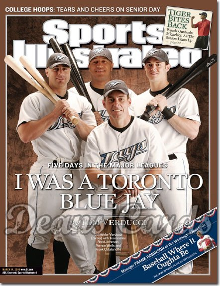 2005 Sports Illustrated   March 14  -  Verducci R Brown V Wells F Catalanotto Toronto Blue Jays