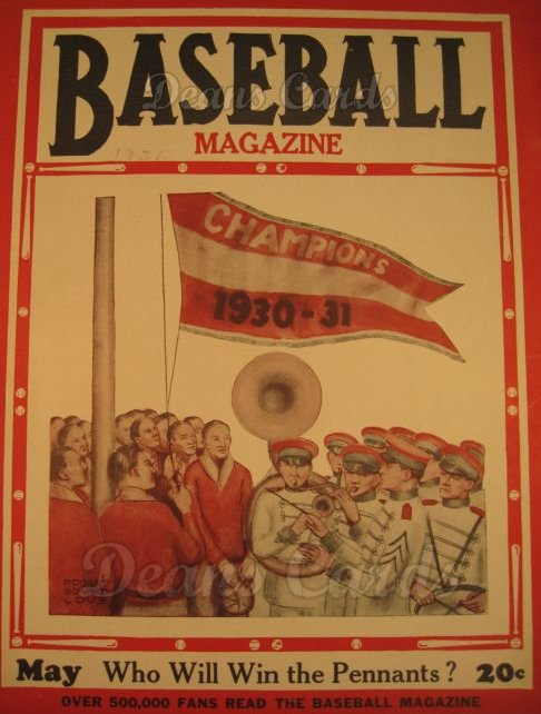 1931 Baseball Magazine    May