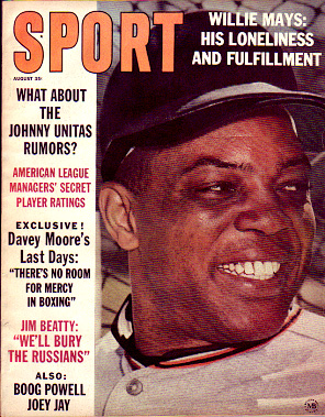 1963 Sport Magazine   -  Willie Mays  August
