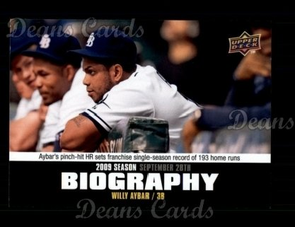 2010 Upper Deck Season Biographies #192 SB Willy Aybar
