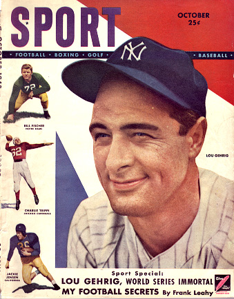 1948 Sport Magazine   -  Lou Gehrig  October