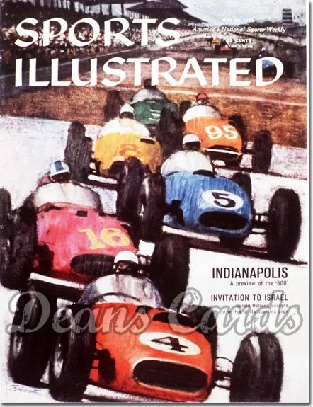 1959 Sports Illustrated - With Label   May 25  -  Indy 500 Preview