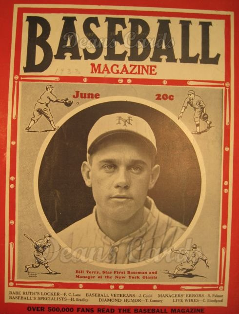 1933 Baseball Magazine    June