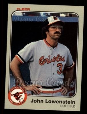 1983 Fleer #63  John Lowenstein