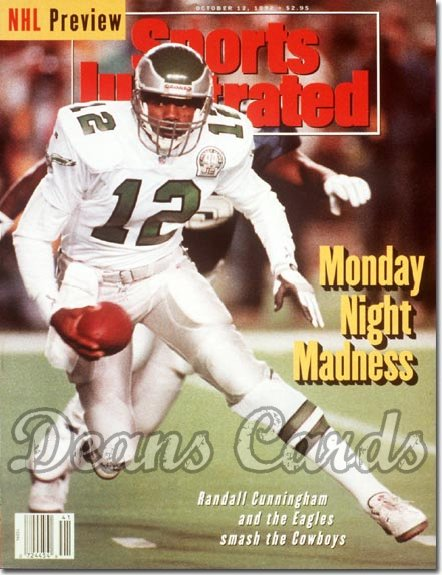 1992 Sports Illustrated - With Label   October 12  -  Randall Cunningham (Philadelphia Eagles)