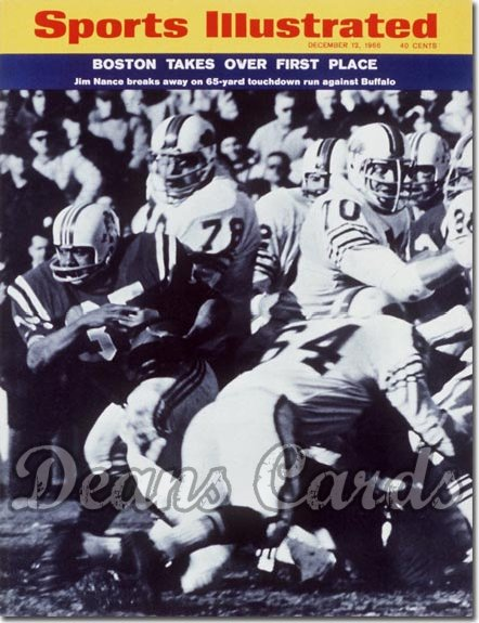 1966 Sports Illustrated - With Label   December 12  -  Jim Nance (New England Patriots)