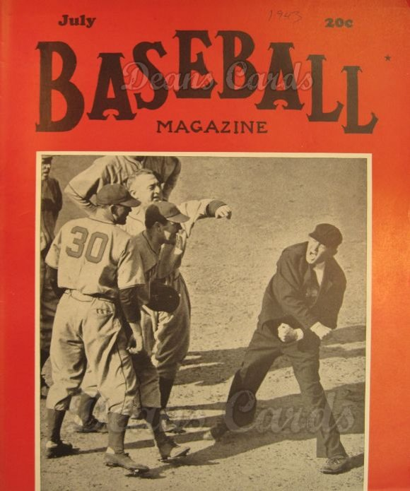 1943 Baseball Magazine    July