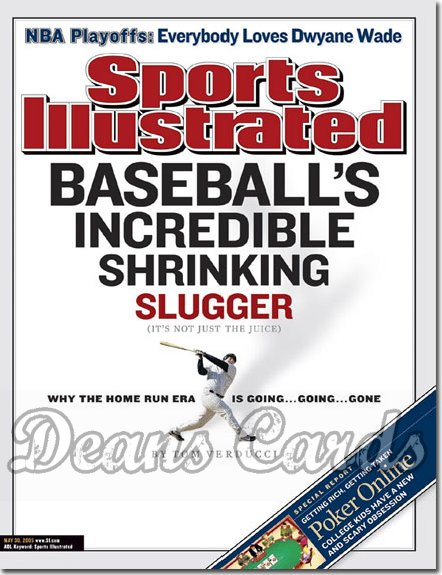 2005 Sports Illustrated   May 30  -  Baseball's Shrinking Slugger Jason Giambi (small)