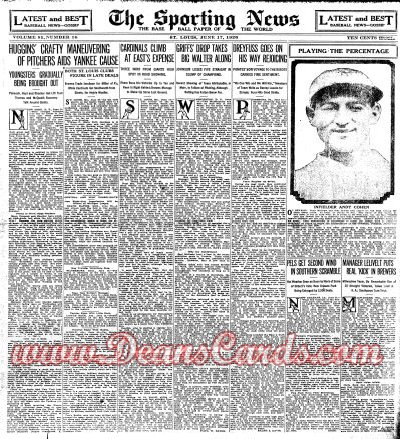 1926 The Sporting News   June 17  - Bob Meuse