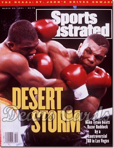 1991 Sports Illustrated - With Label   March 25  -  Mike Tyson / Razor Ruddock