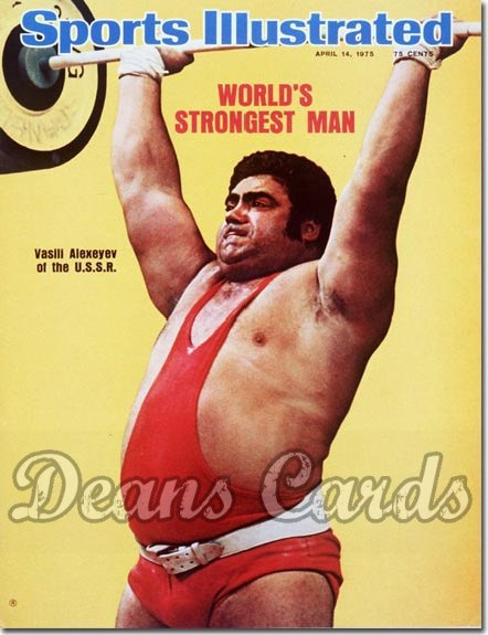 1975 Sports Illustrated - With Label   April 14  -  Vasili Alexeyev USSRWeightlifter