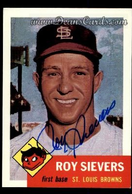 1991 Topps 1953 Archives #67  Roy Sievers