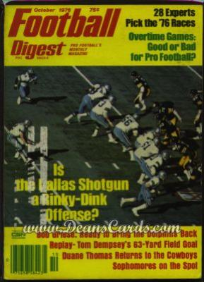 1976 Football Digest    October  - Dallas's Shotgun