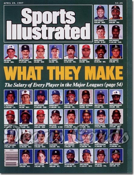 1987 Sports Illustrated   April 20  -  Baseball Players Salaries