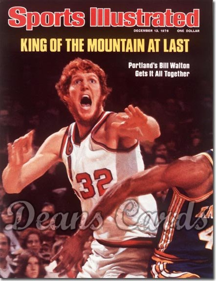 1976 Sports Illustrated - No Label   December 13  -  Bill Walton (Portland Trail Blazers)