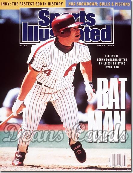 1990 Sports Illustrated - With Label   June 4  -  Lenny Dykstra (Philadelphia)