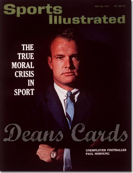 1963 Sports Illustrated - With Label   May 20  -  Paul Hornung Green Bay Packers