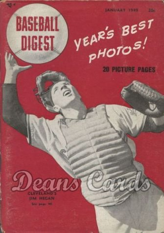 1949 Baseball Digest   -  Jim Hegan  January