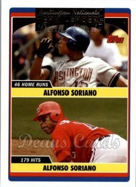 2006 Topps Update #295   -  Alfonso Soriano / Alfonso Soriano Nationals Team Leaders