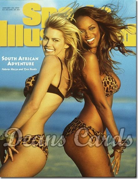 1996 Sports Illustrated - No Label   January 29  -  Tyra Banks & Valeria Mazza Swimsuit Issue