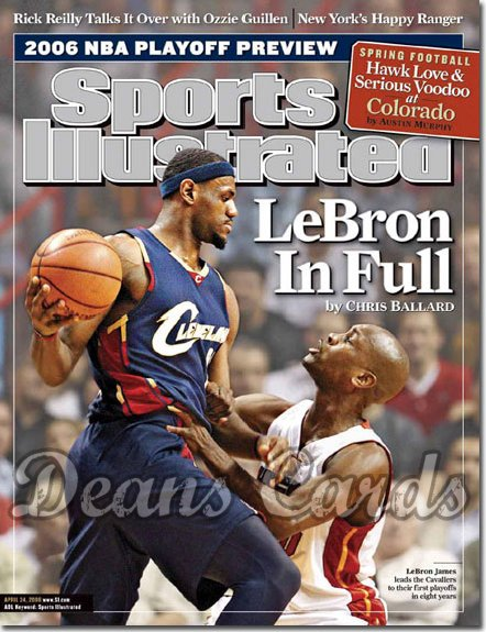 2006 Sports Illustrated   April 24  -  Lebron James vs Gary Payton Cleveland Cavaliers Miami Heat