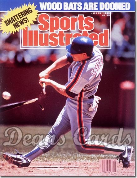 1989 Sports Illustrated - With Label   July 24  -  Gregg Jefferies (New York Mets)
