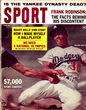 1963 Sport Magazine   -  Maury Wills  June