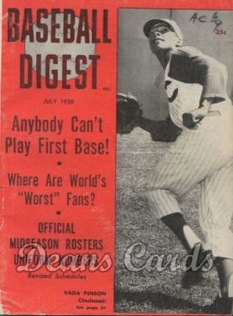 1959 Baseball Digest   -  Vada Pinson  July
