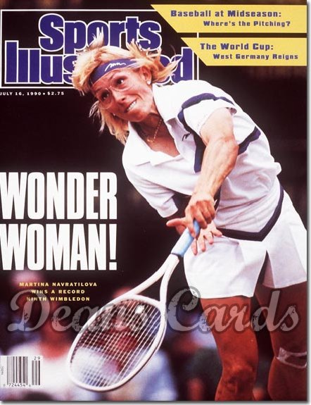 1990 Sports Illustrated - No Label   July 16  -  Martina Navratilova