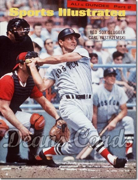1967 Sports Illustrated - With Label   August 21  -  Carl Yastrzemski (Boston Red Sox) (1st Cover)