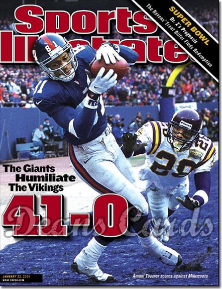 2001 Sports Illustrated   January 22  -  Amani Toomer (NY Giants) Robert Tate (MN Vikings)