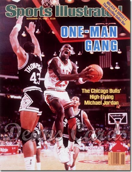 1986 Sports Illustrated - With Label   November 17  -  Michael Jordan (Chicago Bulls)
