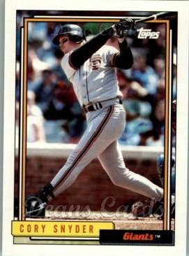 1992 Topps Traded #107 T Cory Snyder